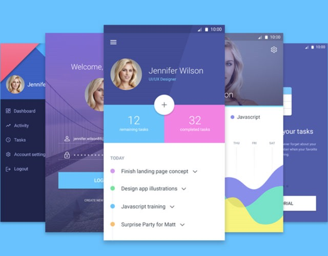 mobile materiial kit 30 Free mobile UI kits for Photoshop and Sketch
