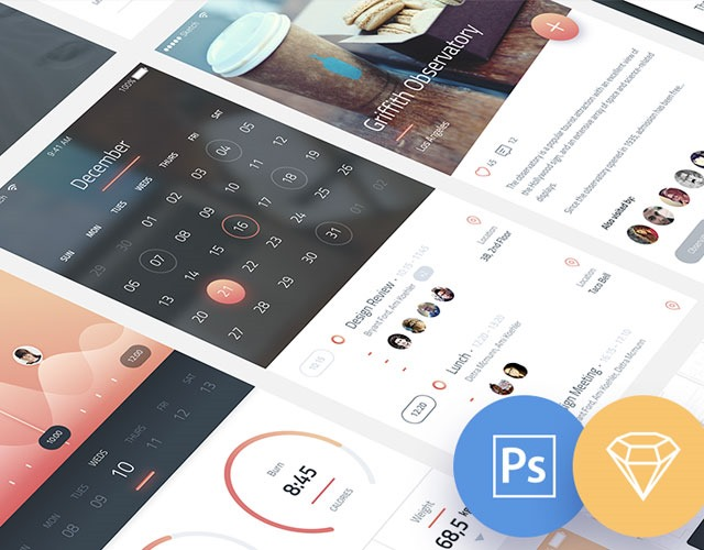 phoniex ui kit 30 Free mobile UI kits for Photoshop and Sketch