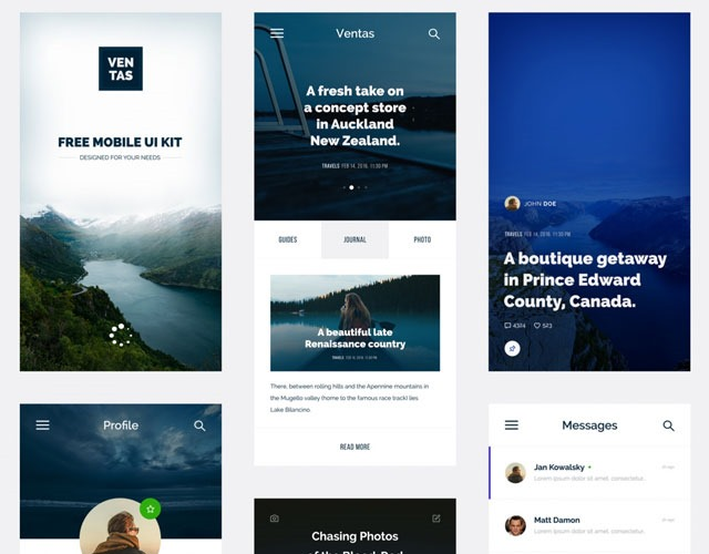 ventas 30 Free mobile UI kits for Photoshop and Sketch