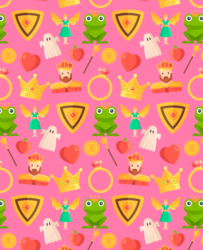 pink seamless pattern Fairy tale free seamless vector pattern