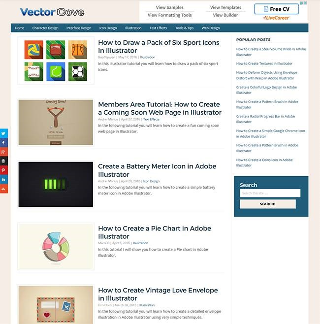 vector cove Must read blogs for learning or mastering Photoshop and Illustrator