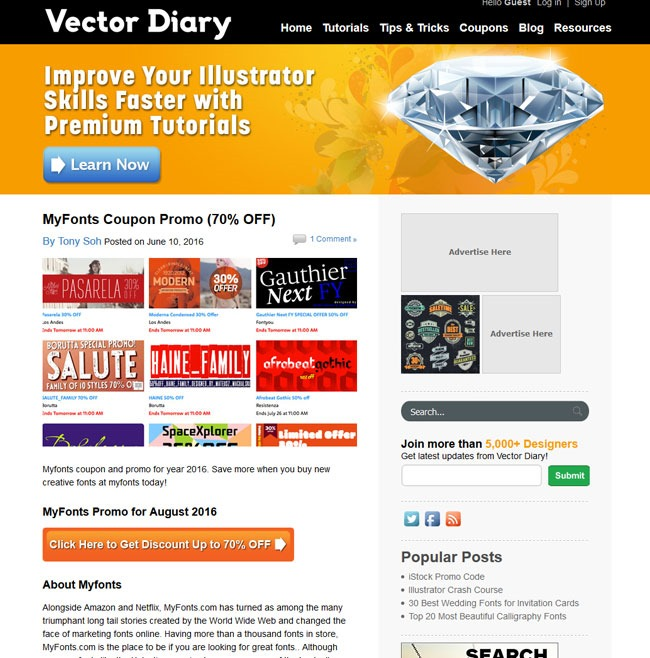 vector diary Must read blogs for learning or mastering Photoshop and Illustrator