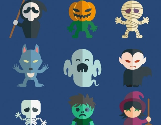 character pack 40 Essential Halloween vectors and icons