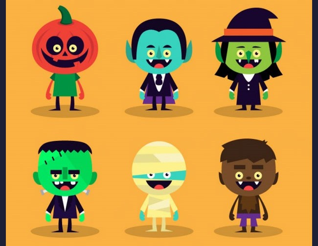 characters 40 Essential Halloween vectors and icons