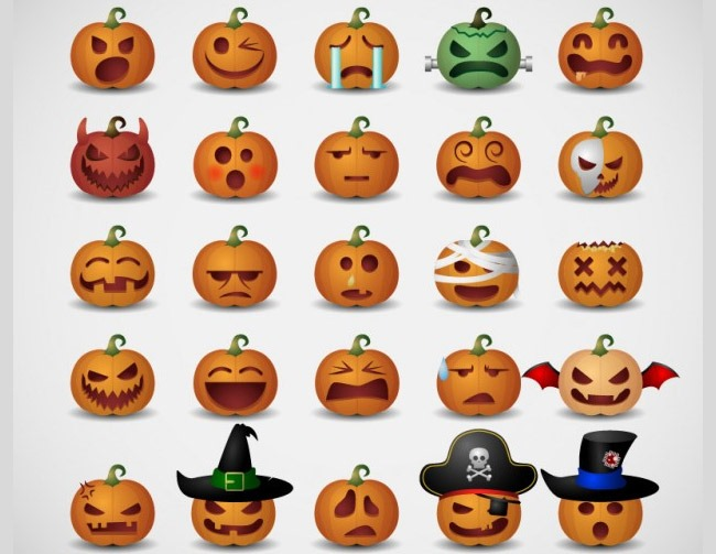 emotiicons 40 Essential Halloween vectors and icons