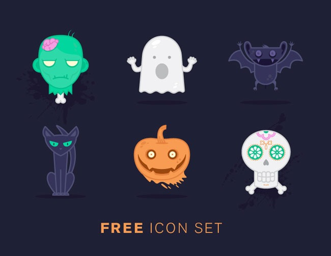halloween freek icons 1 40 Essential Halloween vectors and icons
