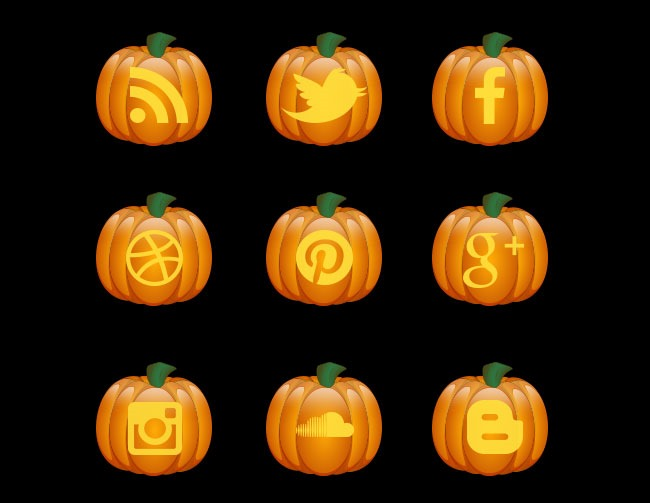 halloween pumkin icon set 40 Essential Halloween vectors and icons