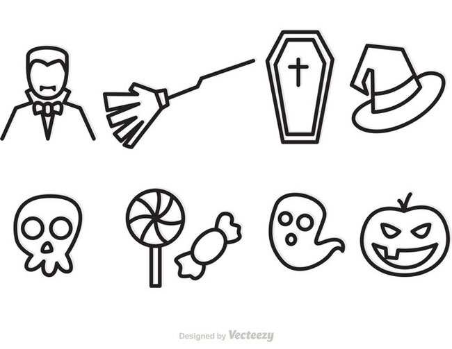 outline vectors 40 Essential Halloween vectors and icons