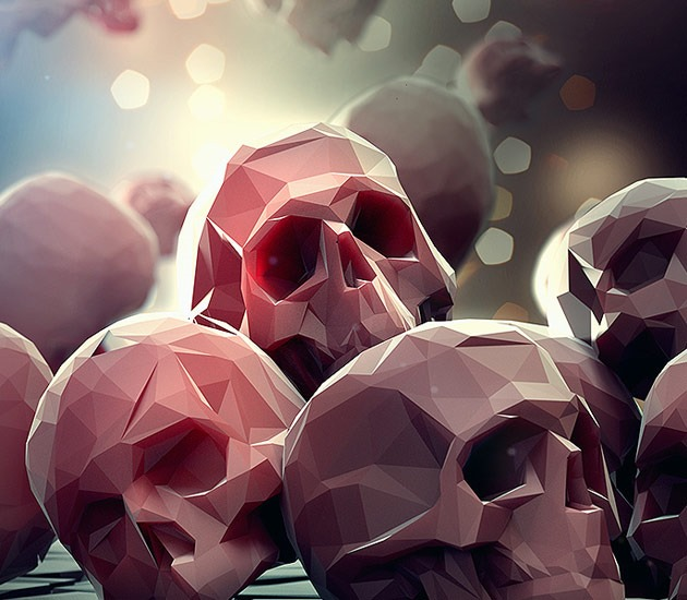 skulls 20 Beautiful examples of Low Poly design illustrations