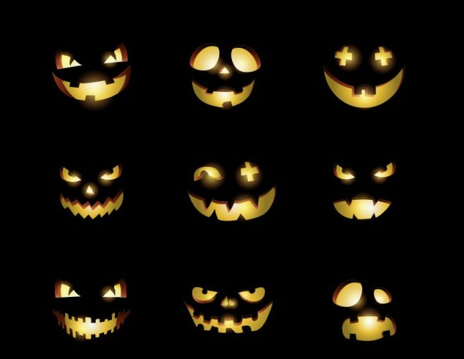 smiley icons 40 Essential Halloween vectors and icons