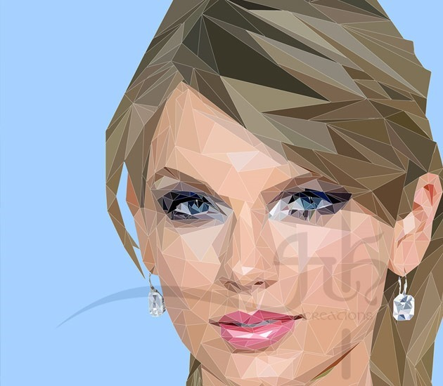 taylor swift 20 Beautiful examples of Low Poly design illustrations