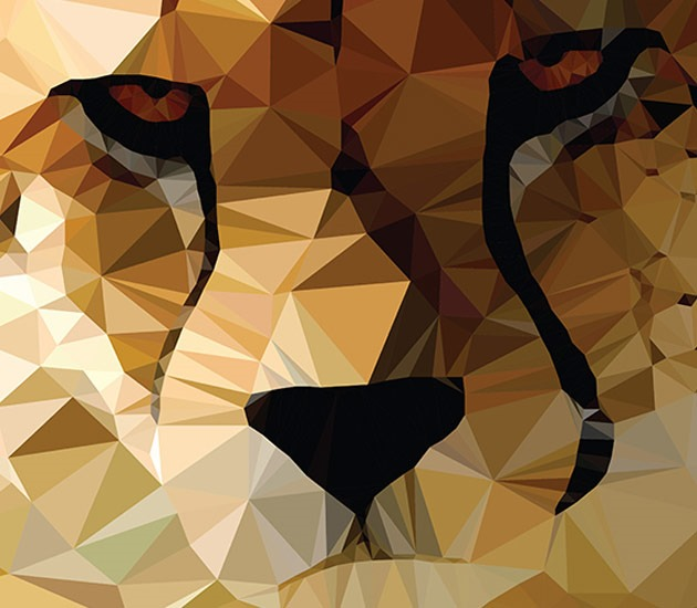 tiger pantha 20 Beautiful examples of Low Poly design illustrations
