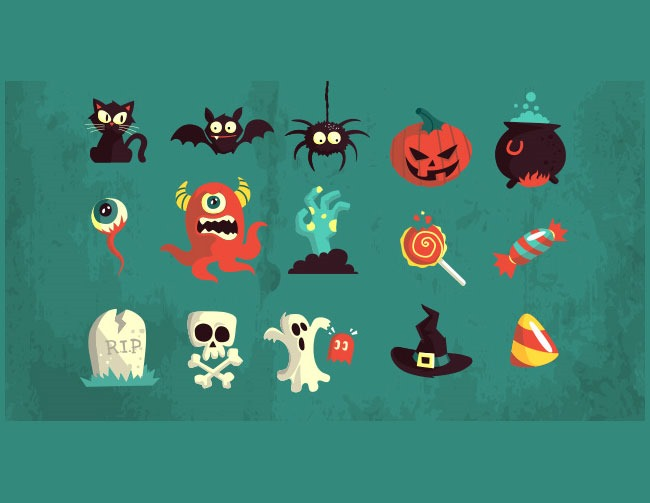 vector pack 40 Essential Halloween vectors and icons
