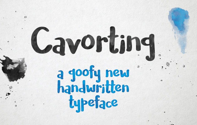 cavorting 50 best free fonts from 2016