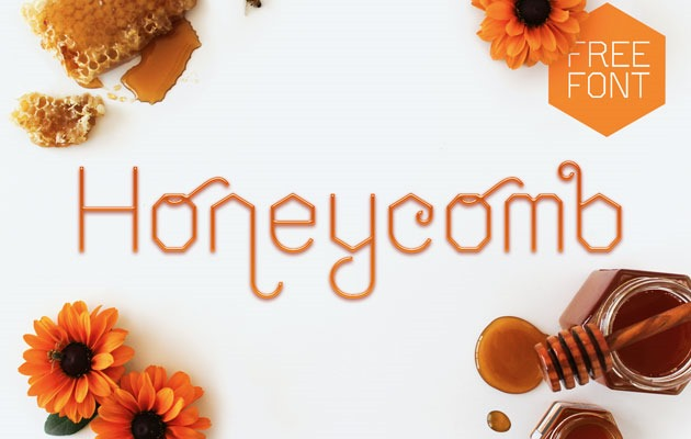 honey comb 50 best free fonts from 2016