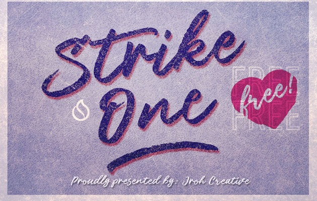 strike one 50 best free fonts from 2016