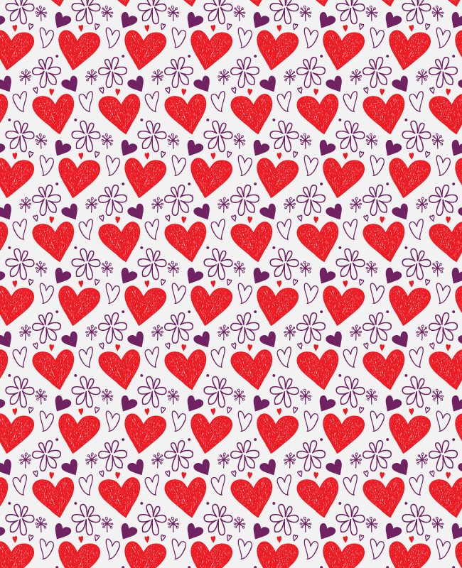 valentines semaless vector patterns Creative Nerds Handrawn hearts and petals free seamless vector pattern