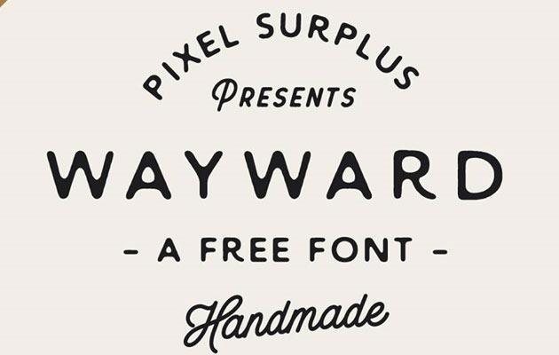 wayward 50 best free fonts from 2016
