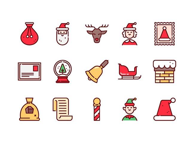 75christmas icons 25 Free Christmas themed icon sets