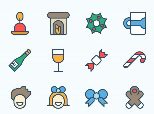 christmas icon 1 25 Free Christmas themed icon sets