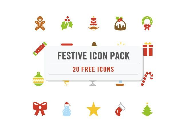 festive icons 25 Free Christmas themed icon sets