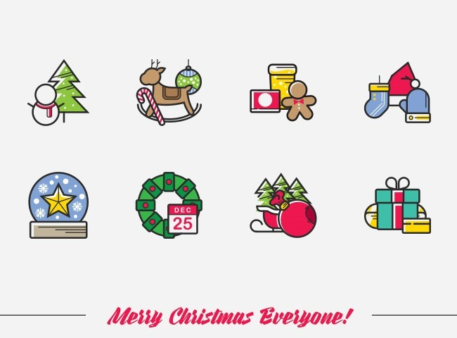 simple icons 25 Free Christmas themed icon sets