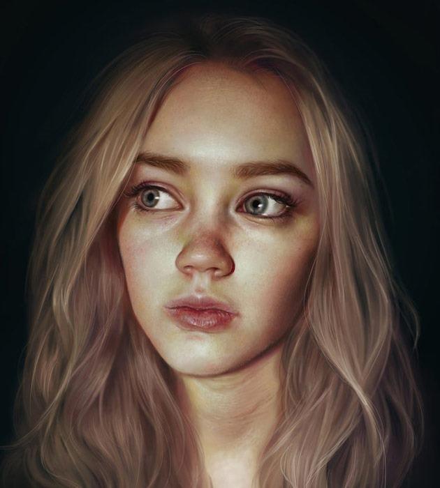 antasia 25 Beautiful realistic digital art portraits