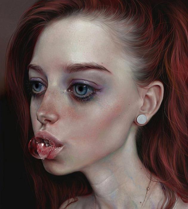bubble 25 Beautiful realistic digital art portraits