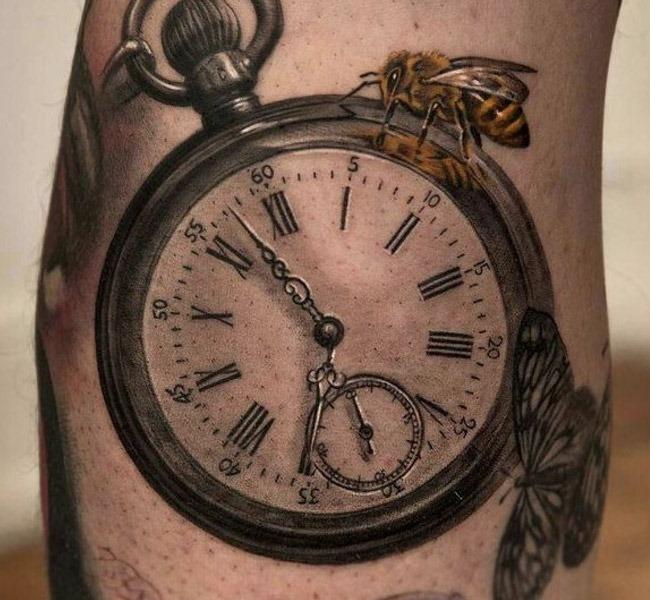 clock small 35 Mind blowing realistic tattoo designs