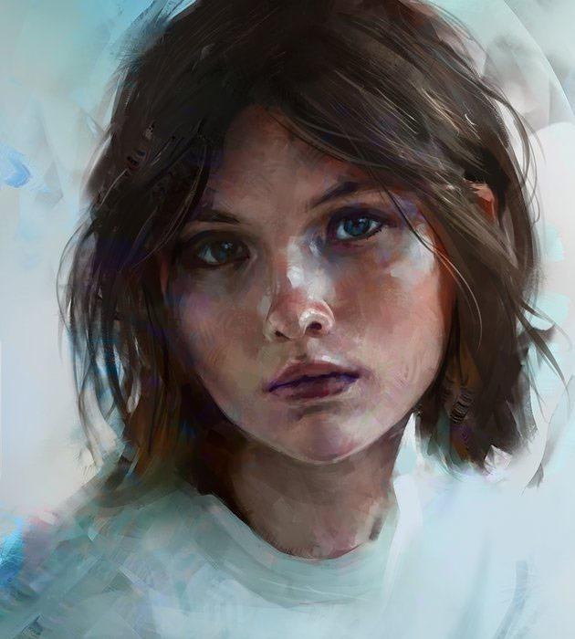 color 25 Beautiful realistic digital art portraits