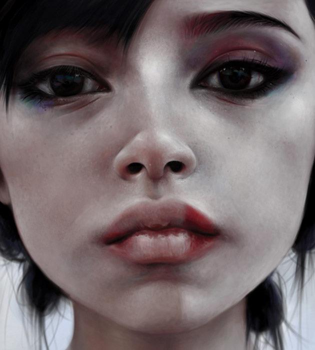 giesha 25 Beautiful realistic digital art portraits