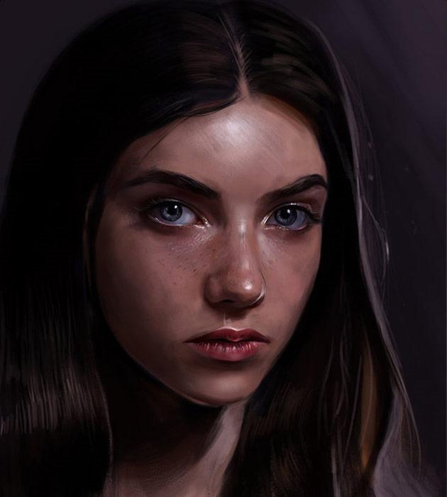 grace 25 Beautiful realistic digital art portraits