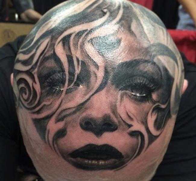 head tatto 1 35 Mind blowing realistic tattoo designs