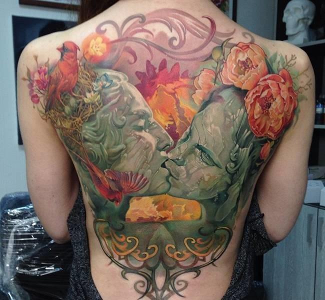 kissing 35 Mind blowing realistic tattoo designs