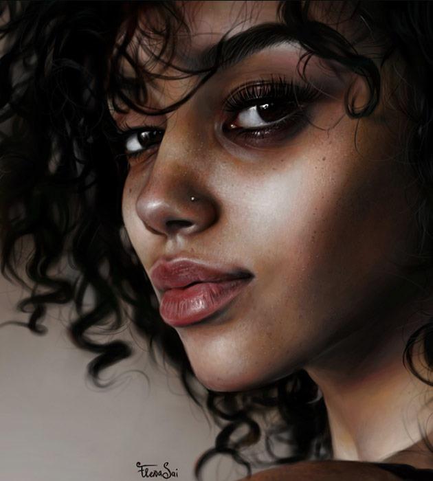 marie 25 Beautiful realistic digital art portraits