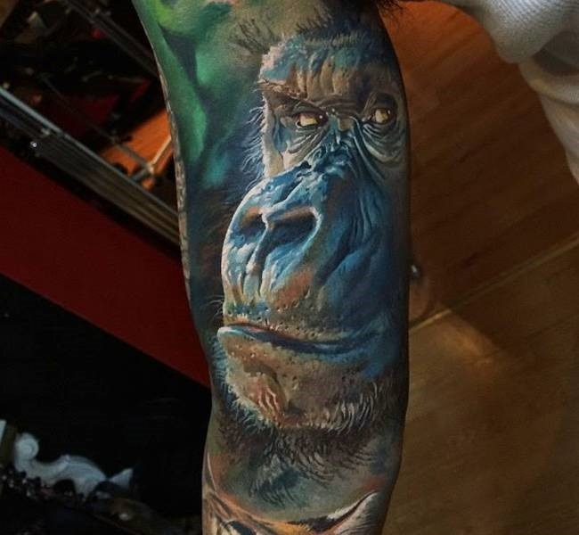 moneky 35 Mind blowing realistic tattoo designs