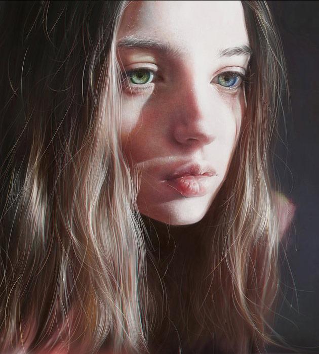 rou 25 Beautiful realistic digital art portraits