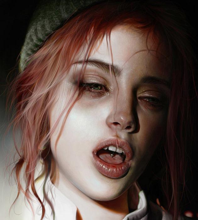 strunk 25 Beautiful realistic digital art portraits