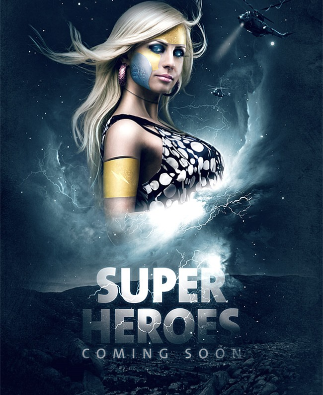 super hero 20 Photoshop tutorials for creating movie posters