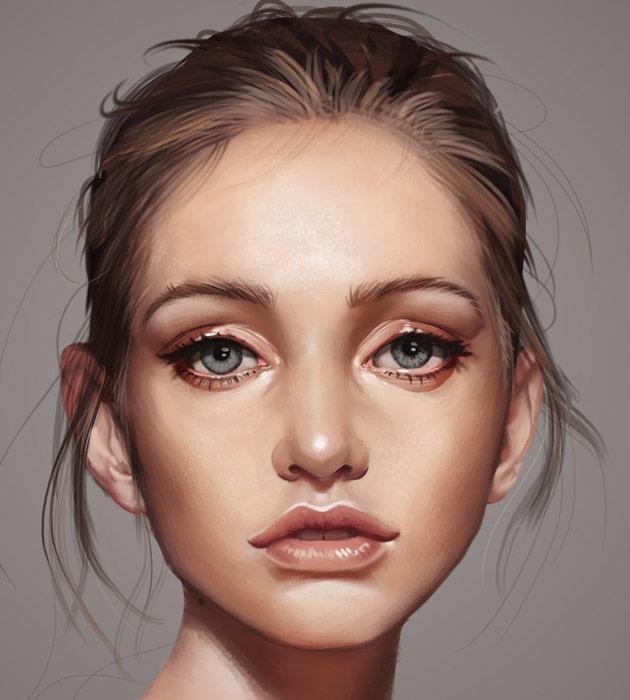 victor 25 Beautiful realistic digital art portraits