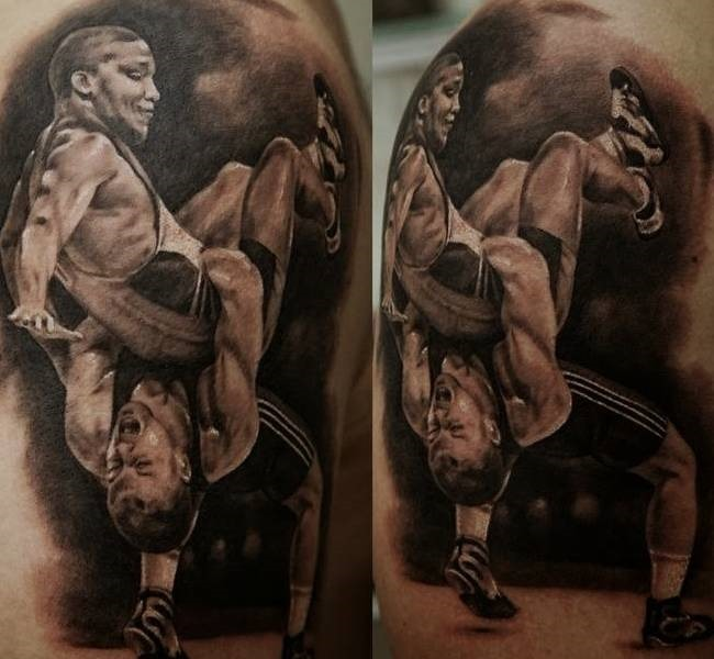 wrestling 35 Mind blowing realistic tattoo designs