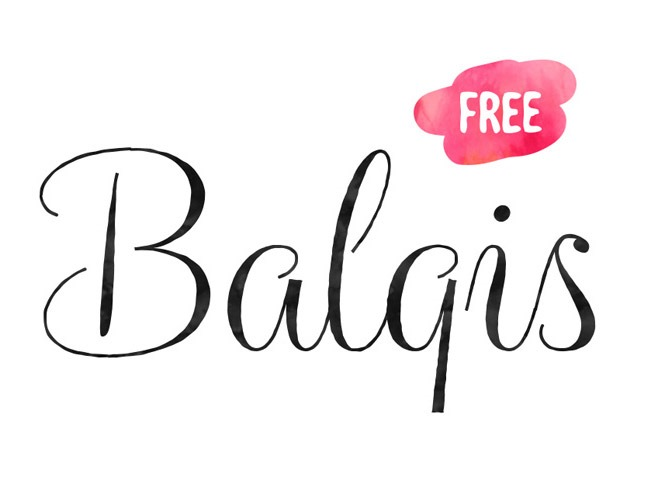 balgis 50 free must download Calligraphy fonts