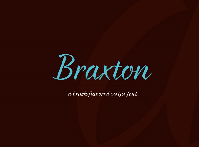 braxton 50 free must download Calligraphy fonts