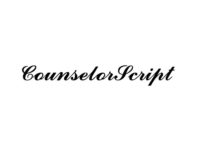 counselor 50 free must download Calligraphy fonts