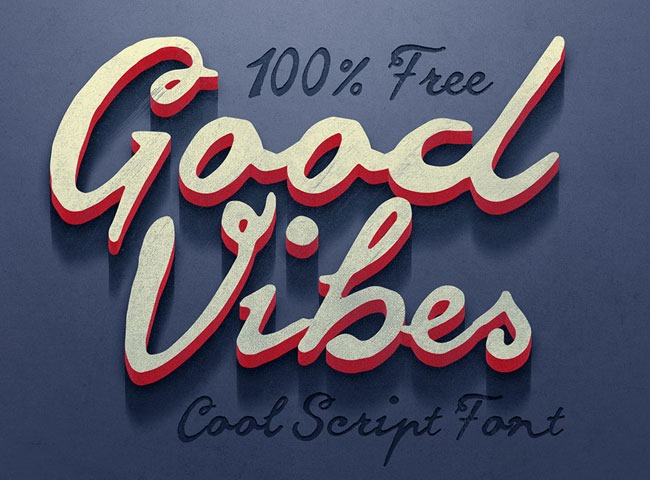 good vibes 50 free must download Calligraphy fonts