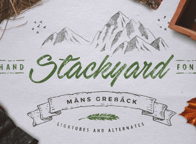 stack 50 free must download Calligraphy fonts