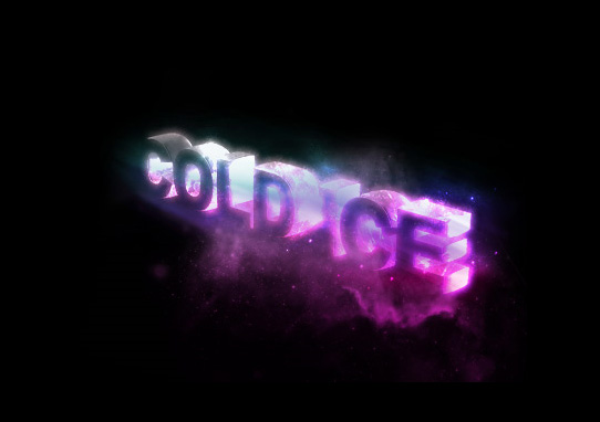 cold ice  14 Spectacular 3D Text Effects Tutorials