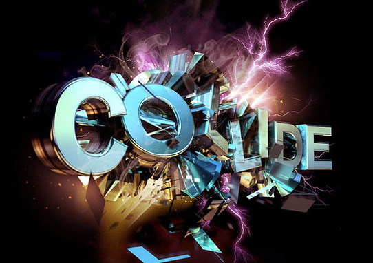 colide tutorial  14 Spectacular 3D Text Effects Tutorials