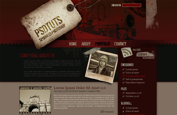how to create a grunge web design in photoshop 12 Of The Best Photoshop Web Design Tutorials