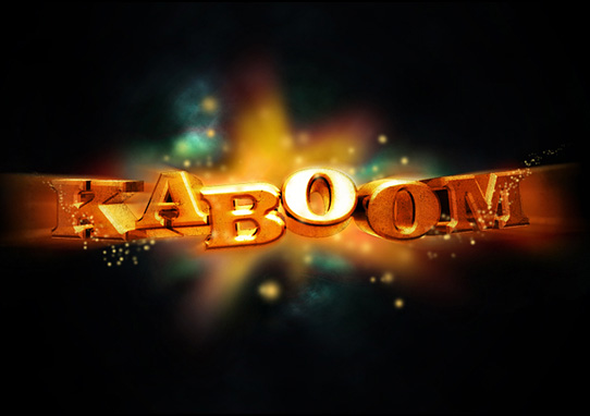 kaboom tutorial  14 Spectacular 3D Text Effects Tutorials